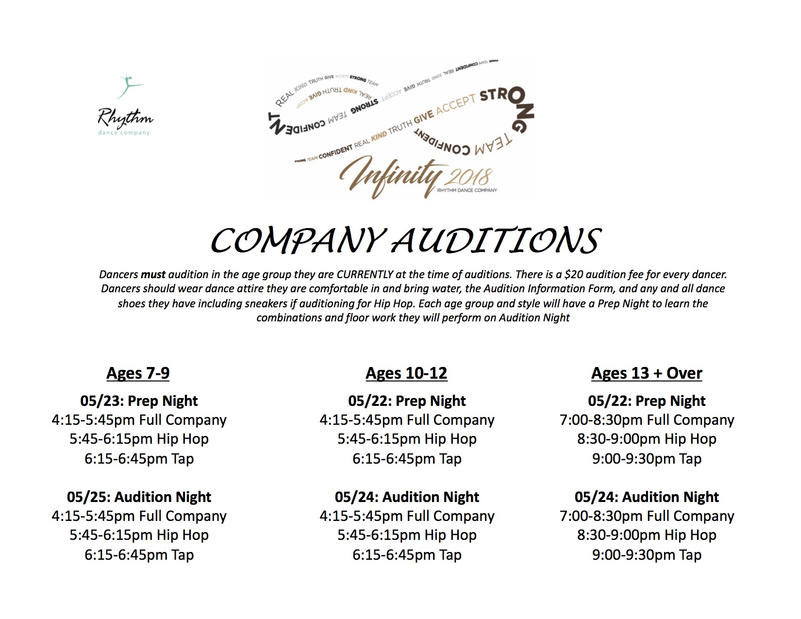 Company Auditions 2018